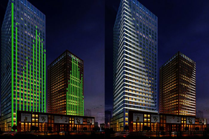 Highrise Facade Lighting - tianjin China